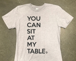 You can sit at my table